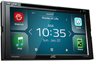 "2018 JVC KW-V640BT Double-DIN 6.8"" Touchscreen Multimedia Bluetooth SiriusXM-Ready DVD CD Receiver w/ Weblink"