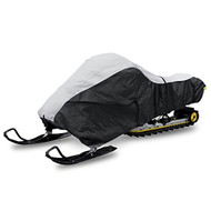 Pyle Universal Snowmobile Cover - Heavy Duty Design with Elastic Cord, Non-scratch Hood Liner & Waterproof Fabric for Safe Storage & Travel - Protects Against Mildew & UV Damage - PCVSNMEX15
