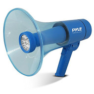 Pyle Portable Compact PA Megaphone Speaker with Alarm Siren & Adjustable Volume - 40 Watt Handheld Lightweight Marine Grade Waterproof Bullhorn - AA Battery Powered For Indoor Outdoor Use - PMP66WLT