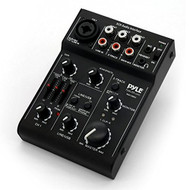 Pyle 3 Channel DJ Controller USB Audio / Sound Mixer Recording Interface with XLR and 3.5 mm Microphone Jack, Line In RCA, Rechargeable Battery, Mix Monitoring, for Professional / Beginners - PAD15MXU