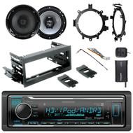"HD Radio + Kit, SiriusXM Tuner, Harness,2x 6.5"" 2-Way Speakers, Brackets,Adapter"
