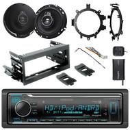 "HD Radio + Kit, SiriusXM Tuner, Harness,2x 6.5"" 3-Way Speakers, Brackets,Adapter"