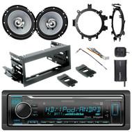 """HD Radio + Kit, SiriusXM Tuner, Harness,2x 6.5"""" Cone Speakers, Brackets,Adapter"""