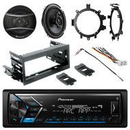 "Bluetooth AM/FM Radio + Kit, Harness,2x 3-Way 6.5"" Speakers, Brackets, Adapter"