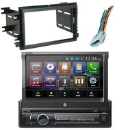 Dual XDVD136BT Flip Out Touchscreen Bluetooth DVD Radio, Dash Kit, Wire Harness