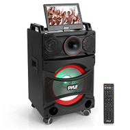 Pyle PKRK12 Portable DVD Video PA Speaker System Party Bluetooth Amplifier