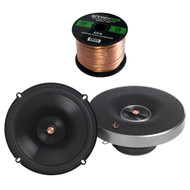 "4x Infinity Primus Series 6.5"" 2-Way Multi-Element Speakers, 50 Foot Wire"