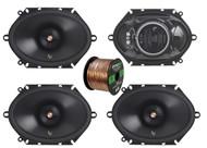 "4x Infinity Primus 6x8"" 2-Way 165-Watt Multi-Element Speakers, 16-G 50 Ft Wire"