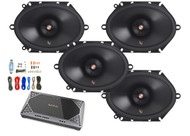 "4x Infinity Primus 6x8"" 2-Way Speakers, Infinity 4-Channel Amplifier + Kit"