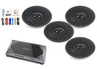 "4x Infinity Primus 6x9"" 3-Way Speakers, Infinity 4-Channel Amplifier + Kit"