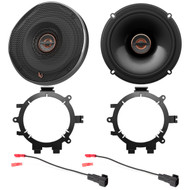 "2x Infinity REF Reference Series Shallow-Mount 6.5"" 330 Watt Coaxial Car Speakers, with 2x Enrock Speaker Mounting Brackets, 2x Speaker Wire Harness"