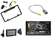 Kenwood NAV Bluetooth Radio, Metra Polaris Splash Guard, Backup Camera + Harness
