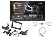 Kenwood Touchscreen DVD Radio, Scosche Polaris Dash Kit, Enrock Marine Antenna