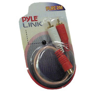 Pyle PLRC2M Dual Male to Single Female RCA ''Y'' Connector