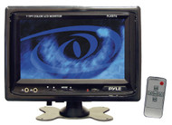 Pyle PLHR76 7'' Widescreen TFT LCD Video Monitor w/Headrest Shroud