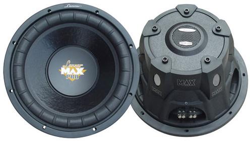1 x  Lanzar MAXP1 x 04D Max Pro 1 x 0'' 1 x 200Watt Small Enclosure Dual 4 Ohm Subwoofer