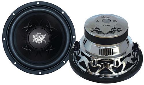 1 x  Lanzar VW1 x 2D Vibe 1 x 2'' 1 x 600 Watt Dual 4 Ohm Chrome Subwoofer Sub Car Audio