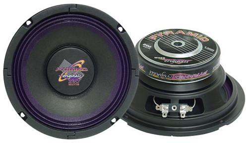 1 x  Pyramid WH68 6'' 200 Watt High Power Paper Cone 8 Ohm Subwoofer Sub