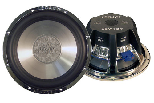 "1 x  Legacy LSW1 x 27 1 x 2"" 2000 Watt Legacy Steel Series Woofer Sub Car Audio"