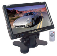 Pyle PLHR77 7'' Wide Screen TFT LCD Video Monitor w/Headrest Shroud Universal Stand