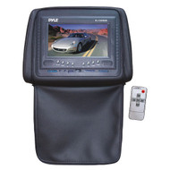 Pyle PL72HRBK Black Adjustable Headrests w/ Built-In 7'' TFT LCD Monitor W/IR Trans