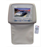 Pyle PL72HRTN Tan Adjustable Headrests w/ Built-In 7'' TFT LCD Monitor W/IR Trans