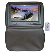 Pyle PL91HRBK Black Adjustable Headrests w/ Built-In 9'' TFT LCD Monitor W/IR Trans