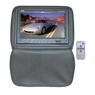 Pyle PL91HRGR Gray Adjustable Headrests w/ Built-In 9'' TFT LCD Monitor W/IR Trans