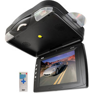 Pyle PLRD133F 12.1'' Roof Mount TFT LCD Monitor w/ Built-In DVD Player