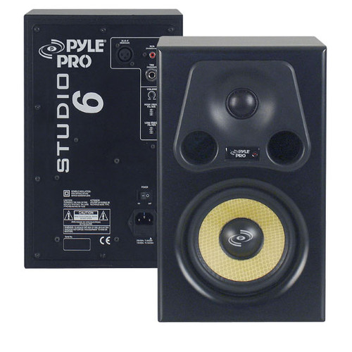 1 x  PSTUDIO6 6.5'' 350 Watt 2-Way Bass Reflex Amplified Studio Monitor Speaker