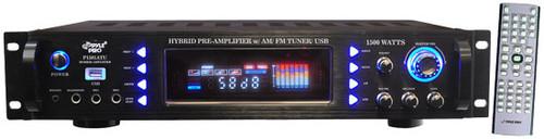 Pyle P1501ATU 1500 Watts Hybrid Pre Amplifier w/ AM FM Tuner/ USB