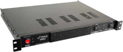 Pyle PSA2000 1U Rack Mount 2000 Watts Power Stereo Amplifier DJ Pro Audio