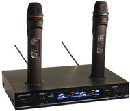 Pyle PDWM3000 Dual VHF Rechargeable Wireless Microphone System