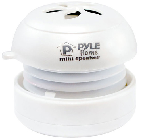 PyleHome PMS2W  Bass Expanding Rechargeable Mini Speakers for MP3 Computer White