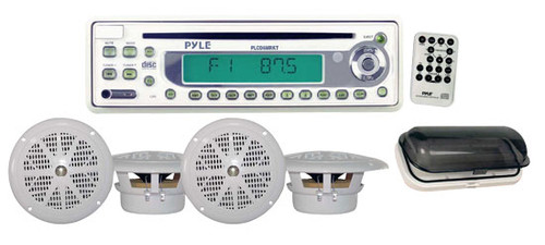 Pyle PLCD6MRKT Waterproof Marine AM/FM/CD Player Receiver W/ 4 X 5.25'' Speakers