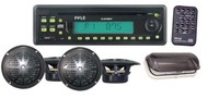 Pyle PLCD7MRKT Waterproof Marine AM/FM/CD Player Receiver W/ 4 X 5.25'' Speakers