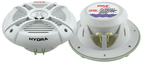 Pair Pyle PLMRX67 250 Watts 6.5'' 2 Way Marine Speakers Kit