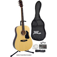 Pyle PGA20 Professional Full Size Acoustic Guitar Package w/ Accessories