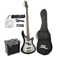 PylePro PGEKT50 Professional Full Size Electric Bass Guitar Package w/ Amplifier