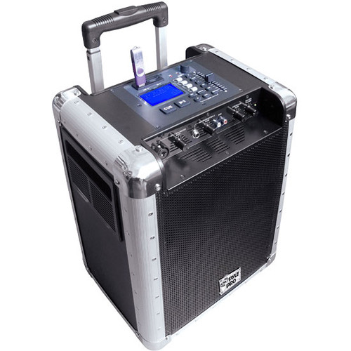 PylePro PCMX265B Battery Powered Portable PA System With USB SD, DJ Controls Aux Inputs