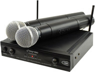 Pyle PDWM2400 Wireless Dual Channel UHF Microphone System With 2 Microphones