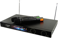 Pyle PDWM2450 Wireless 2 Channel VHF Microphone System With 2 Microphones