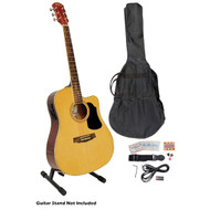 PylePro PGAKT40N 41'' Natural Acoustic-Electric Guitar Package W/ Bag Strap Picks Tuner