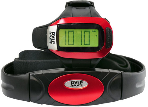 Pyle PHRM24 Speed & Distance Heart Rate Watch w/ USB & 3D walking/Running Sensor
