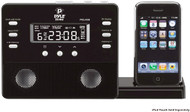 PyleHome PICL45B Black iPod iPhone Alarm Clock Speaker System W/ Radio & Remote