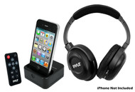 PyleHome PIH30R UHF Wireless Stereo Headphone iPhone/iPod Dock Transmitter & Remote
