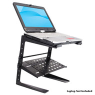 Pyle PLPTS26 Laptop Computer Stand For DJ W/Storage Shelf DJ Pro Audio