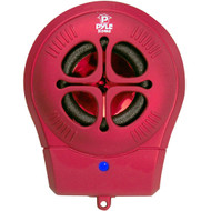 PyleHome PMS6R Bass Expanding Chainable Rechargeable Mini Speakers  MP3 Computer Red