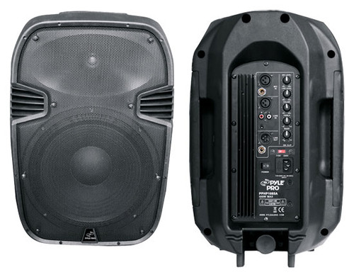 1 x  Pyle PPHP1 x 085A 600 Watts 1 x 0'' Powered 2 Way Plastic Molded Speaker System