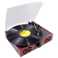 Pyle PVNT7U Retro Style Turntable With USB-to-PC DJ Pro Audio